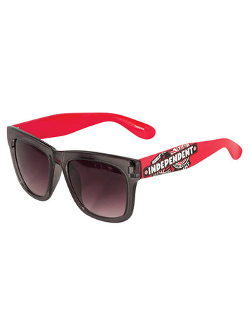 "Independent - Lentes de Sol ""Sticker Pack Trans Smoke"" Grey/Red"