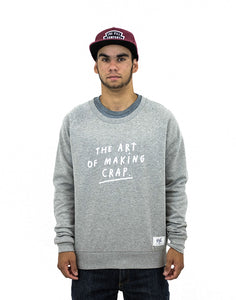 "Pill – Polerón Polo ""Art Of Crap"" Crew Grey"