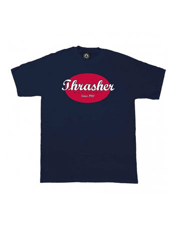 "Thrasher - Polera ""Oval Shirt"" Navy"