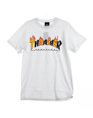 Thrasher - Flame Mag Shirt White