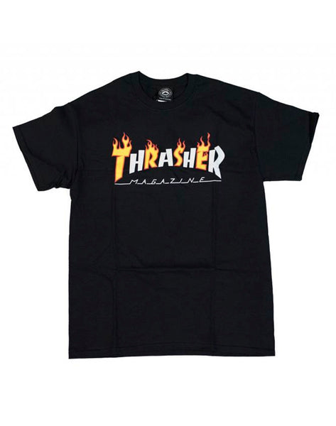 Thrasher - Flame Mag Shirt Black