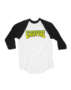 "Creature - Polera 3/4 ""Logo"" White/Black (1489389649979)"