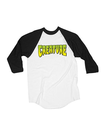 "Creature - Polera 3/4 ""Logo"" White/Black"