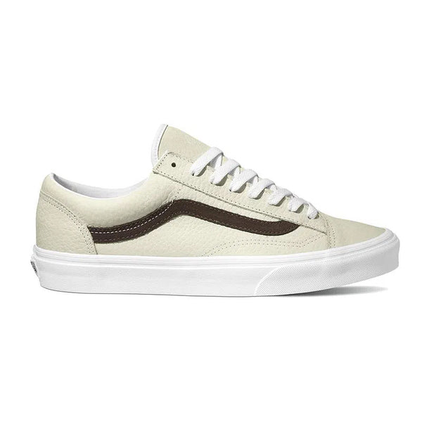 Vans - Style 36 (OS GRAIN LEATHER) WHITE ASPARAGUS