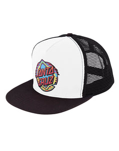 "Santa Cruz - Gorro Trucker ""Neon Dot"" White/Black (1489408917563)"