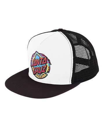 Santa Cruz - Neon Dot Trucker White/Black
