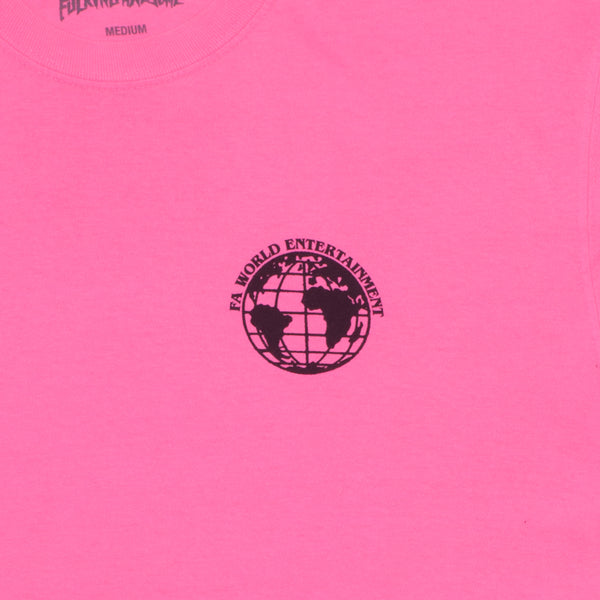 Fucking Awesome - Polera FA World Entertainment Pigment Dyed Neon Pink