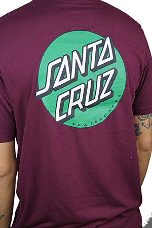 "Santa Cruz - Polera ""Other Dot"" - Maroon"