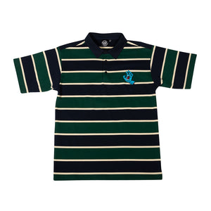 Santa Cruz - Polera Piqué Rugger Navy w/Green and Cream