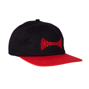 Independent - Gorro Breakneck Snapback Unstructured Cardinal/Black