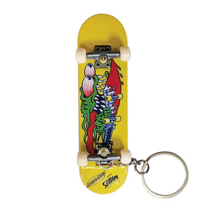 Santa Cruz - Llavero Slasher Finger Board Yellow