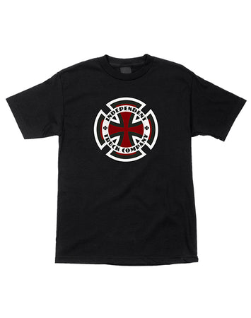 "Independent - Polera ""Ringed Cross"" Black"