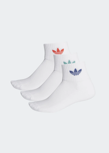 adidas - Calcetines MID ANKLE (M-L 3 PARES) White
