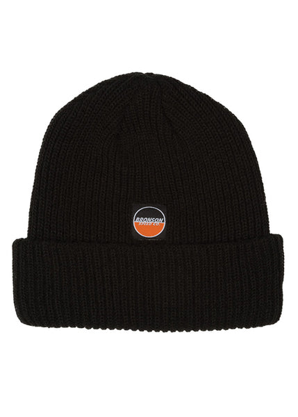 Bronson - Beanie Spot Logo Long Shoreman - Black