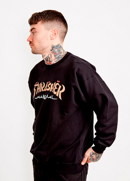 Thrasher - Polerón Polo Calligraphy Black