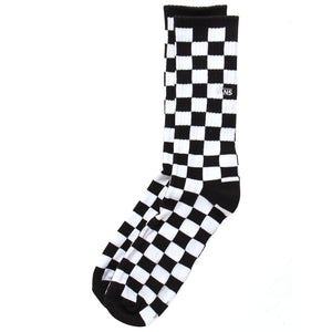 Vans - Calcetines CHECKERBOARD CREW II BLACK-WHITE CHECK (42-47)