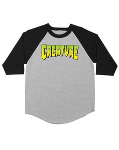 "Creature - Polera 3/4 ""Logo"" Grey/Black"