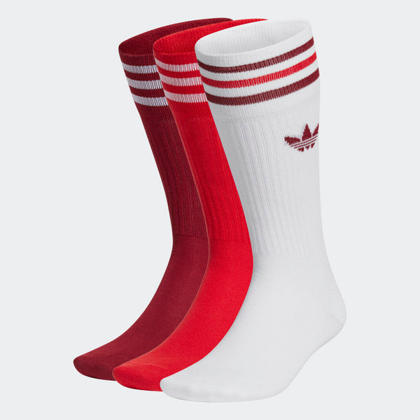 adidas - Calcetines SOLID CREW (3 pares) Red/White GN3073
