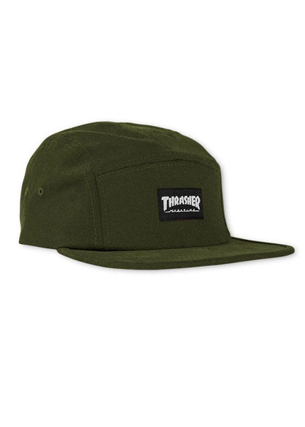Thrasher - Gorro 5 Panel Logo Mag Army