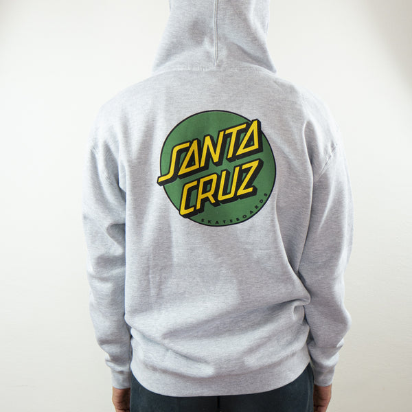 Santa Cruz - Polerón Canguro Classic Dot Grey/Green/Yellow