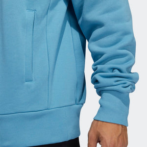 adidas - Polerón H SHMOOFOIL 1/4 ZIP Light Blue GL9943