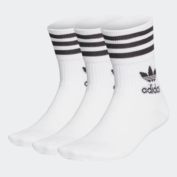adidas - Calcetines MID CUT CRW SCK White (3 pares) GD3575