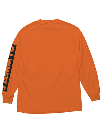 "Oj - Polera Manga Larga ""Bar Logo"" Orange"