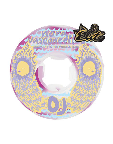 OJ -  Ruedas Nora Vasconcellos Waves Elite White Violet Swirl EZ EDGE 101a 55mm