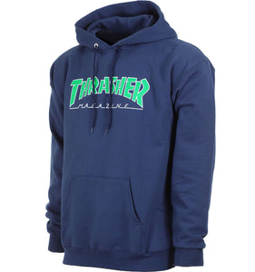 "Thrasher - Polerón Canguro ""OUTLINED"" Navy"