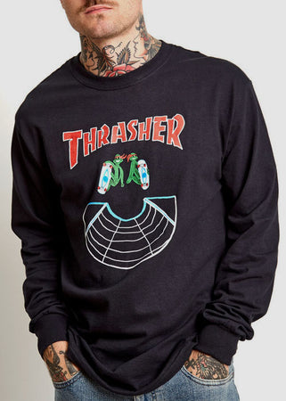 Thrasher - Polera Doubles Manga Larga Black