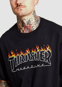 Thrasher - Polera Scorched Outline Black