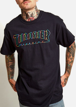 Thrasher - Polera Spectrum Black