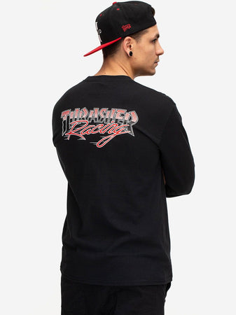 "Thrasher - Polera Manga Larga ""RACING"" Black"