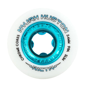 Ricta - Ruedas Nyjah Huston Chrome Core White Teal Slim 54mm 99a
