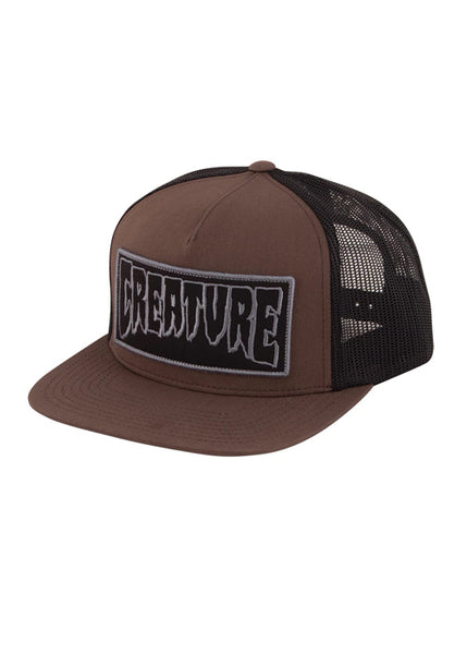 Creature - Snapback Reverse Patch Trucker - Brown (2308027613243)