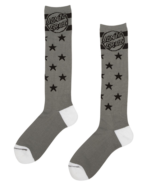 "Santa Cruz - Calcetines ""Spangle Tall"" Dark Grey (2236703408187)"