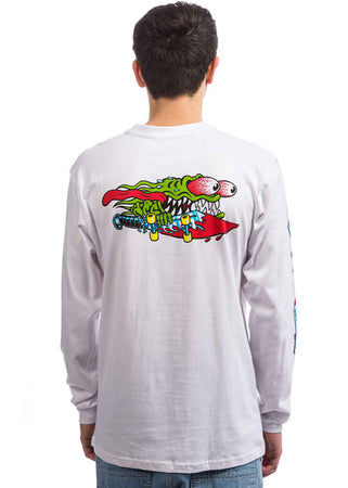 "Santa Cruz - Polera Manga Larga ""Slasher Swords"" White"