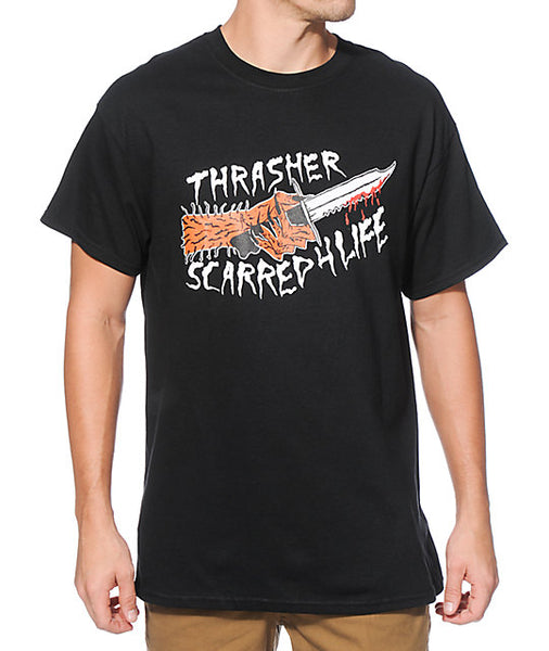 Thrasher - Polera Scarred Black (2264668799035)