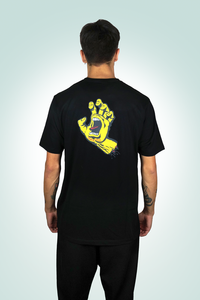 Santa Cruz - Polera ClassicDot/Screaming Hand Black
