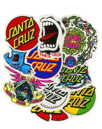 Santa Cruz - Pack de 10 Sticker Assorted