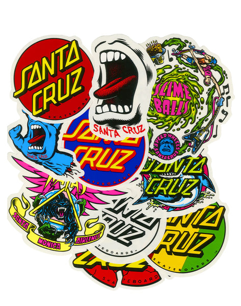 Santa Cruz - Pack de 10 Sticker Assorted (2236784279611)