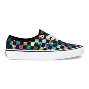 Vans - Authentic Iridescent Check BLACK/TRUE WHITE