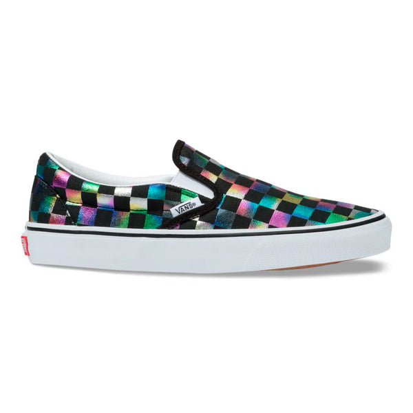 Vans - CLASSIC SLIP-ON (IRIDESCENT CHECK) BLACK/TRUE WHITE