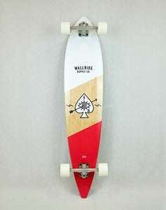 Wallride - Ace of Spades Red Longboard (1489235378235)