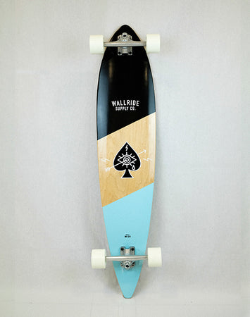 Wallride - Ace of Spades Blue Longboard
