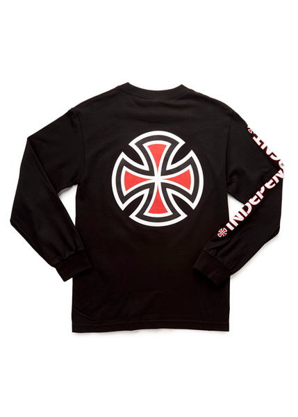 Independent - Polera Manga Larga Bar cross Black