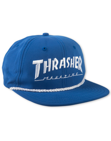 "Thrasher - Gorro Snapback ""Rope"" Blue/white"