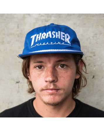 Thrasher - Rope snapback Blue/white