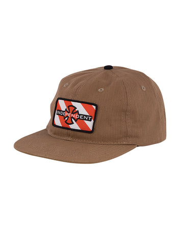 "Independent - Gorro Snapback ""Hazard Herringbone"" Brown"
