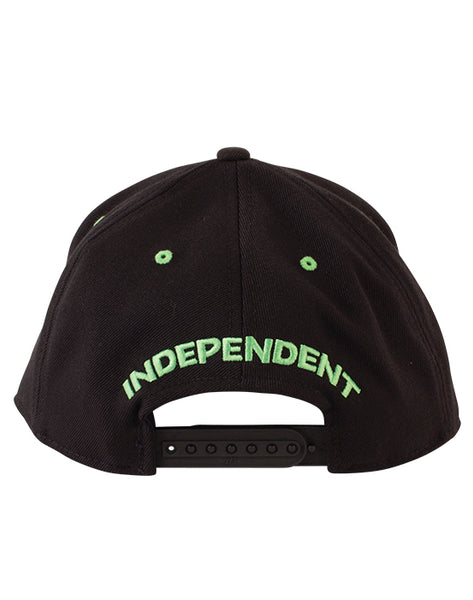 Independent - Lines Flexfit One Ten Black/Green (1489399578683)